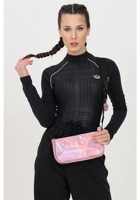 Body donna nero adidas sport con stampa tono su tono ADIDAS | Body | GM5370.
