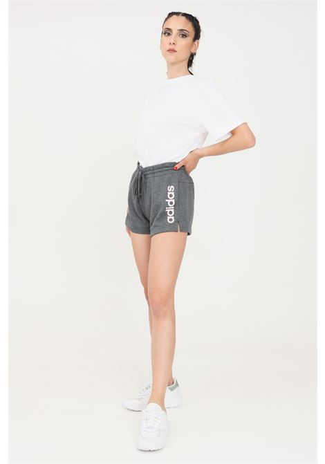 Shorts donna grigio adidas sport con stampa logo laterale ADIDAS | Shorts | GM5529.