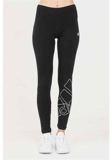 Leggings donna nero adidas con logo a contrasto ADIDAS | Leggings | GM5535.