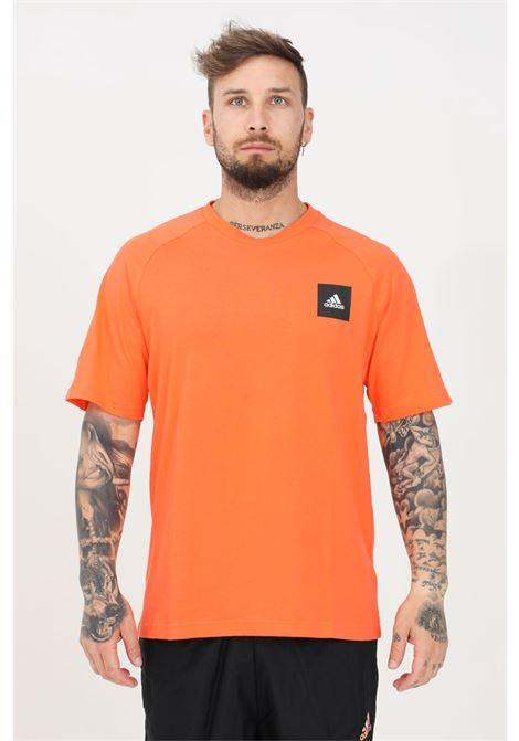 T-shirt uomo arancio adidas a manica corta ADIDAS | T-shirt | GM6340.