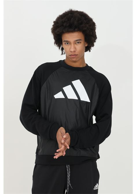 Black sweatshirt round neck fabric block.Adidas