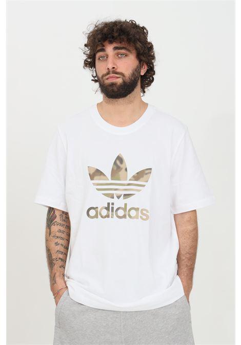 T-shirt camo trefoil uomo bianco adidas a manica corta ADIDAS | T-shirt | GN1855.