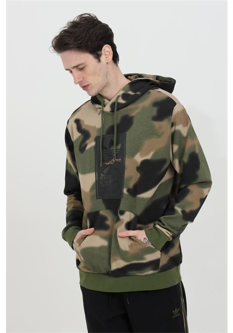 Hoodie with camouflage print  ADIDAS | Sweatshirt | GN1879.