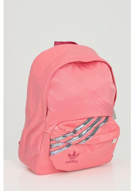Zaino donna rosa Adidas con bande silver e tracolle regolabili ADIDAS | Zaini | GN2112.
