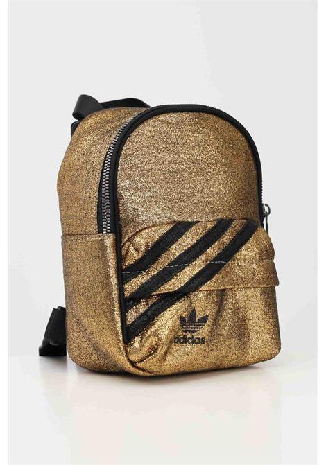 Zaino donna gold adidas con bande e logo a contrasto ADIDAS | Zaini | GN2150.