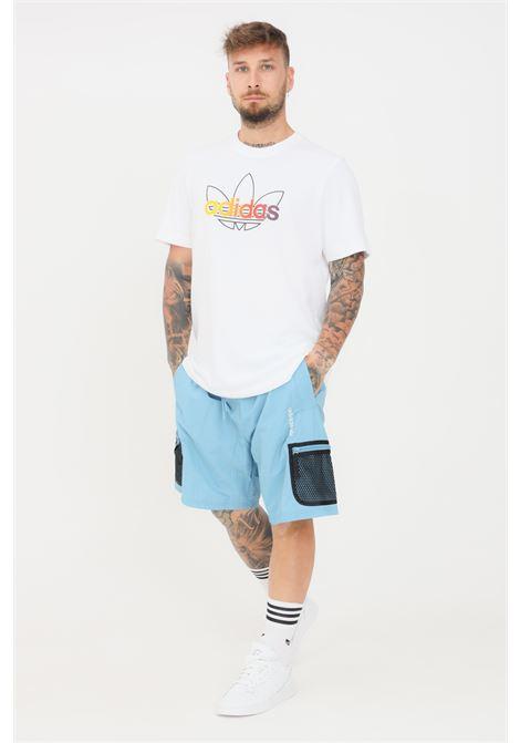 Shorts uomo azzurro adidas casual modello cargo ADIDAS | Shorts | GN2342.