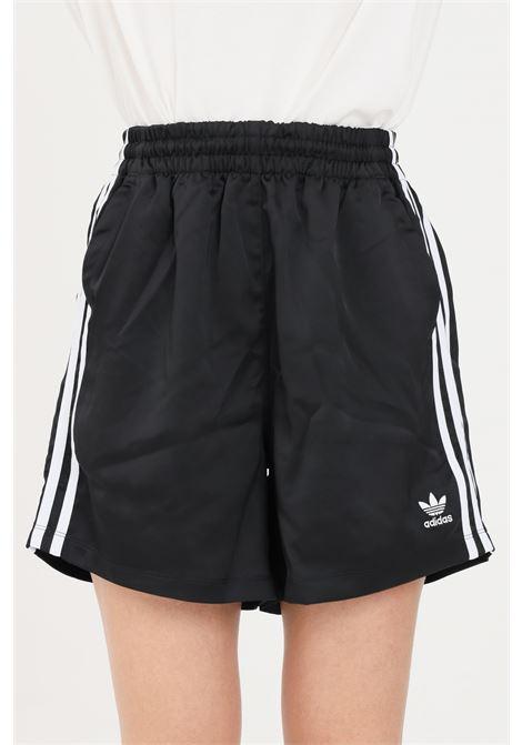 Shorts donna nero adidas sport con bande laterali a contrasto ADIDAS | Shorts | GN2774.