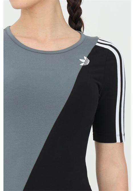 Body adicolor sliced trefoil donna nero azzurro adidas sport ADIDAS | Body | GN2776.
