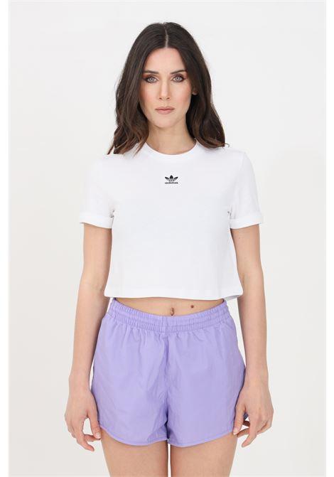 White women's adicolor classics roll-up t-shirt short sleeve adidas ADIDAS | T-shirt | GN2803.
