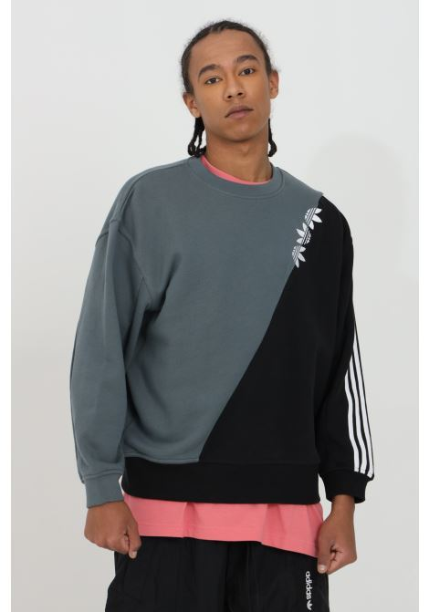 Two-tone crew neck sweatshirt with front logo ADIDAS | Sweatshirt | GN2833.