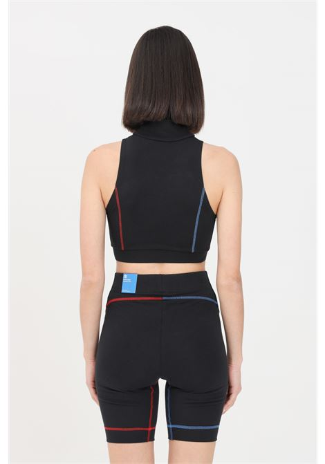 Black women's top with multicolor logo on the front adidas ADIDAS | Top | GN2835.