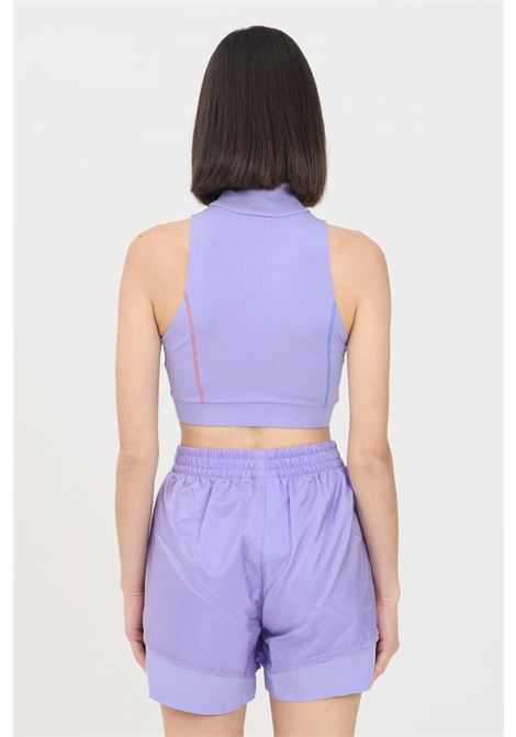 Lilac women's top with multicolor logo on the front adidas  ADIDAS | Top | GN2836.