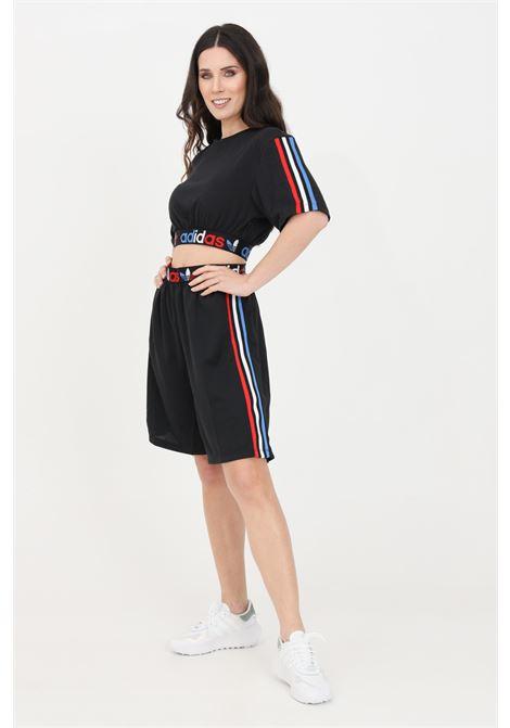 Shorts adicolor tricolor primeblue donna nero adidas sport ADIDAS | Shorts | GN2934.