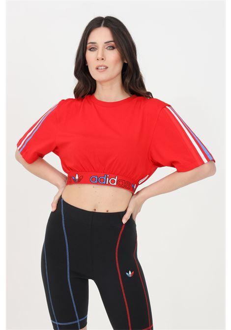 T-shirt adicolor primeblue donna rosso adidas a manica corta ADIDAS | T-shirt | GN2935.