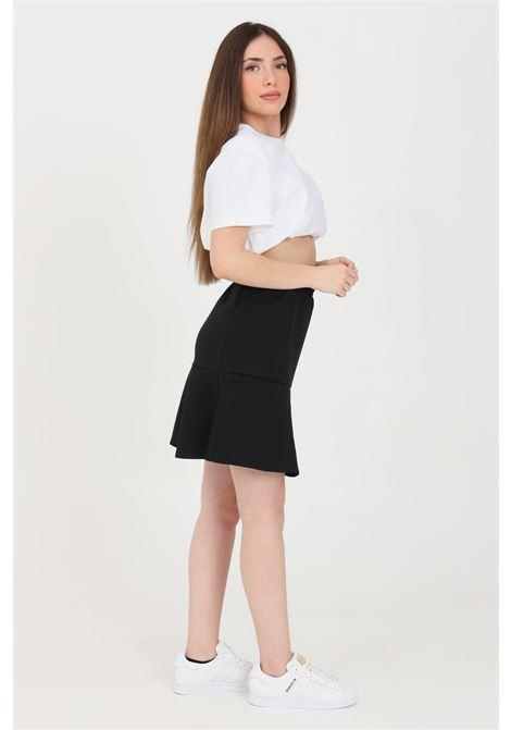 Gonna donna nero adidas corta vita elasticizzata ADIDAS | Gonne | GN3144.