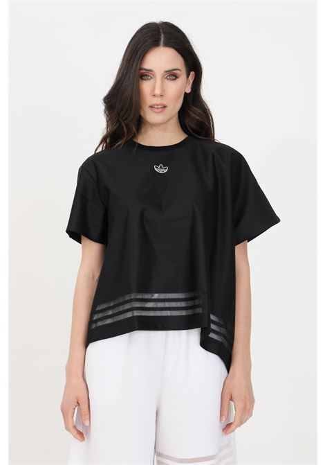 T-shirt donna nero adidas a manica corta fondo ampio ADIDAS | T-shirt | GN3188.