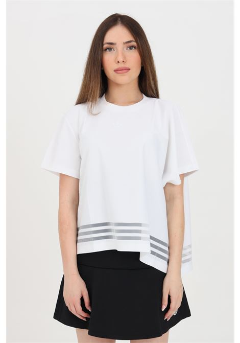 T-shirt donna bianco adidas a manica corta con fondo ampio ADIDAS | T-shirt | GN3189.