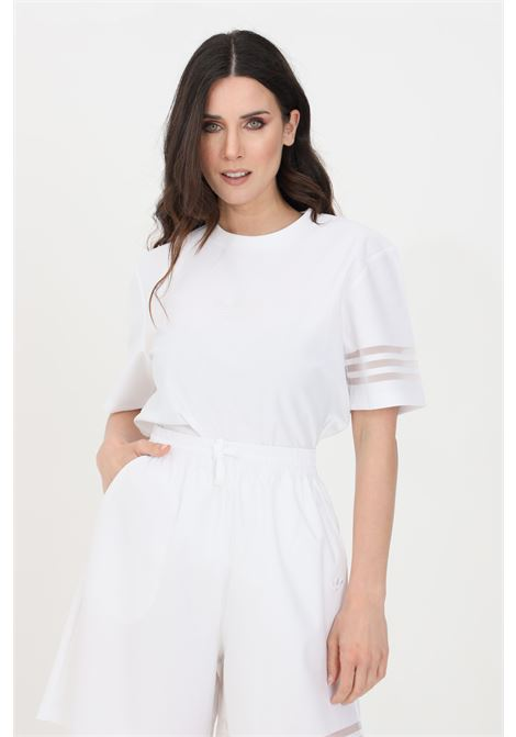 T-shirt donna bianco adidas a manica corta con fondo ampio ADIDAS | T-shirt | GN3206.