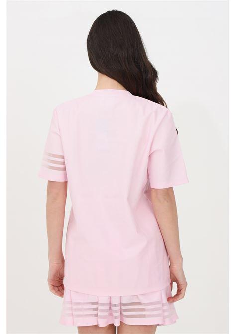 Pink women's t-shirt short sleeve wide bottom adidas  ADIDAS   T-shirt   GN3209.