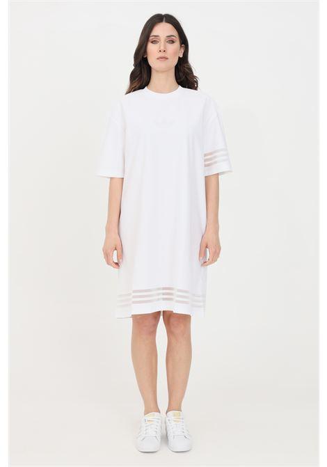 White midi dress with transparencies adidas ADIDAS | Dress | GN3248.