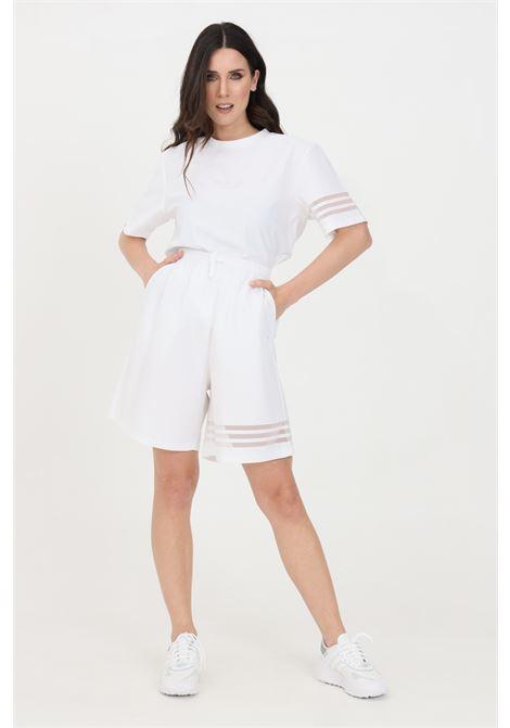 Shorts donna bianco adidas casual con vita elastica ADIDAS   Shorts   GN3256.