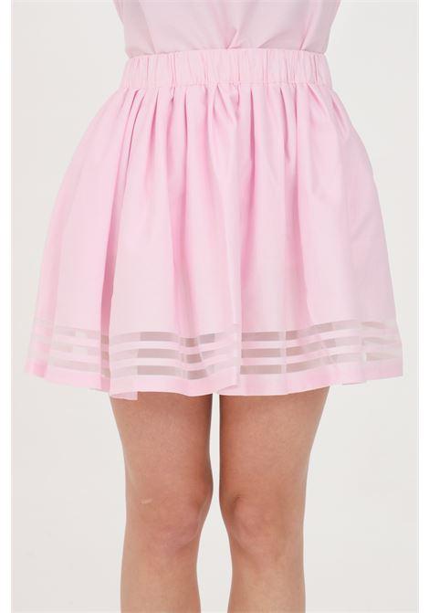 Gonna donna rosa adidas corta svasata con elastico in vita ADIDAS | Gonne | GN3258.