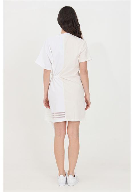 White short dress with rouches asymmetrical cut adidas ADIDAS | Dress | GN3274.