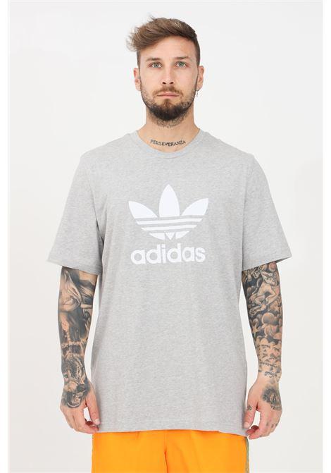T-shirt uomo grigio adidas a manica corta con logo frontale ADIDAS | T-shirt | GN3465.