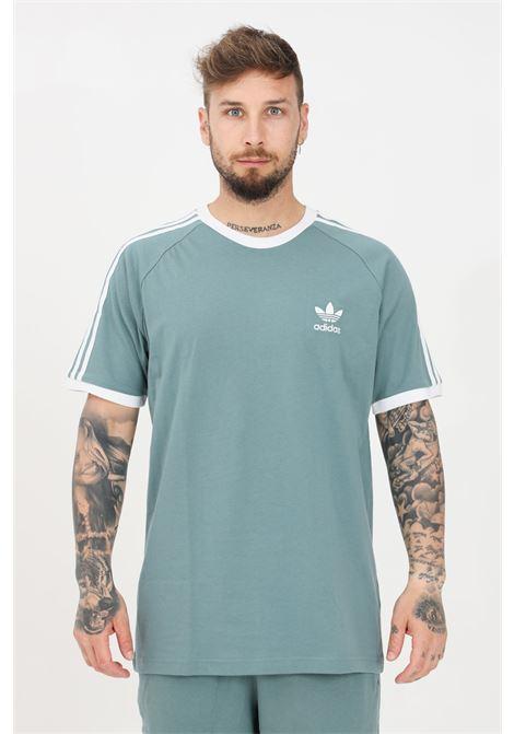 T-shirt uomo smeraldo adidas a manica corta con bande sulle spalle ADIDAS | T-shirt | GN3479.