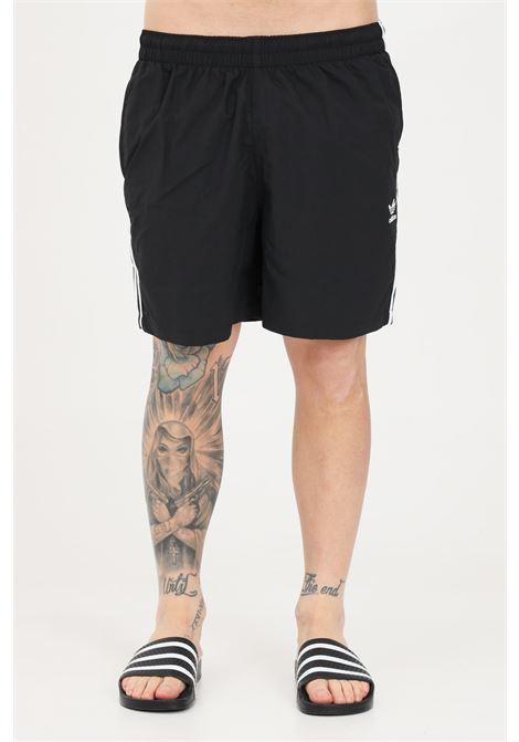 Black men's adicolor classics beach shorts adidas ADIDAS | Beachwear | GN3523.