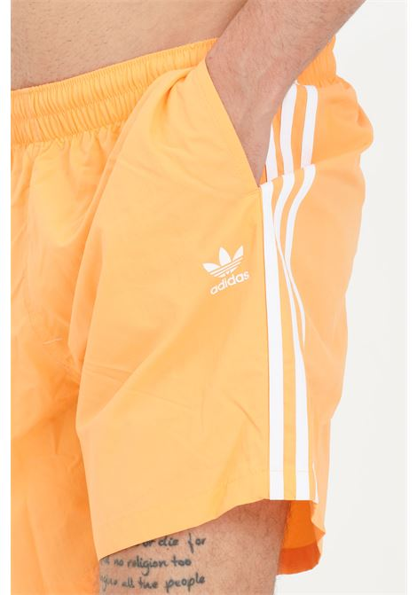 Orange men's adicolor classics beach shorts adidas ADIDAS | Beachwear | GN3525.