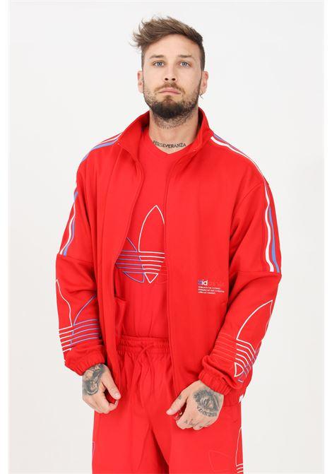Felpa uomo rosso adidas chiusura frontale con zip ADIDAS | Felpe | GN3558.