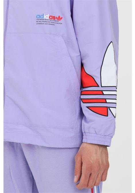 Giacca a vento tricolore con zip ADIDAS | Giubbotti | GN3560.