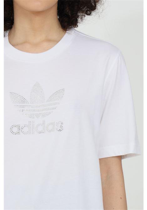 T-shirt girocollo con logo in strass ADIDAS | T-shirt | GN3647.