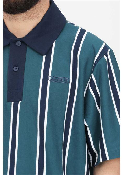 Polo uomo verde adidas stampa striped ADIDAS | Polo | GN3798.