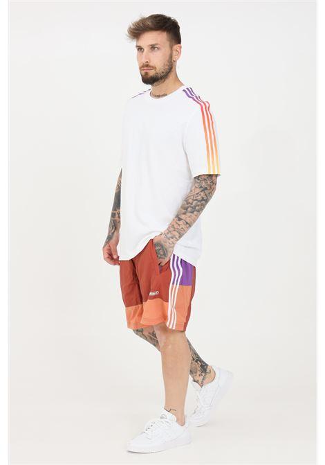 Shorts mare uomo ivory adidas bicolore ADIDAS | Beachwear | GN3838.