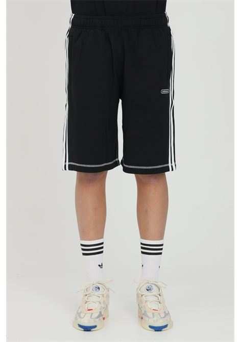 Adidas black men's short with stitch print ADIDAS | Shorts | GN3882.