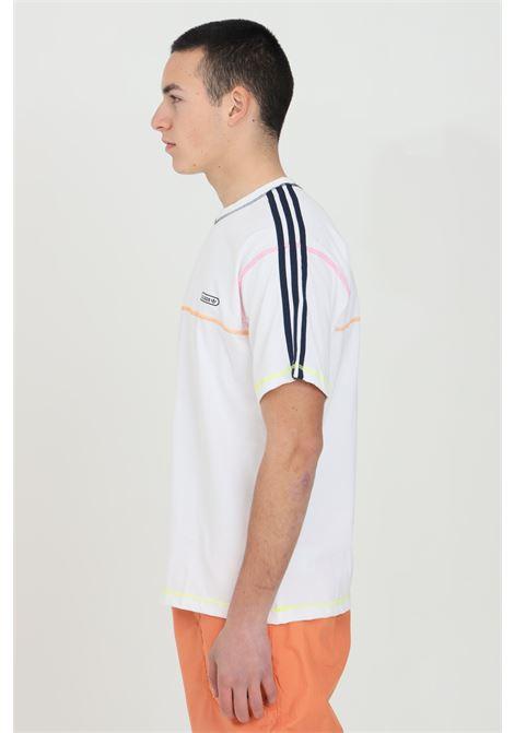 Contrast Stitch T-shirt White Regular Fit ADIDAS | T-shirt | GN3885.