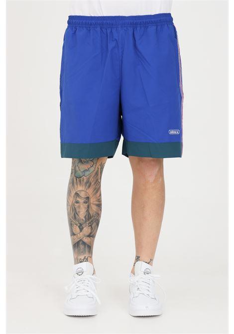 Blue men's taped shorts adidas ADIDAS | Shorts | GN3898.