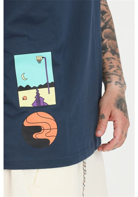 T-shirt uomo blue adidas a manica corta ADIDAS | T-shirt | GN3902.