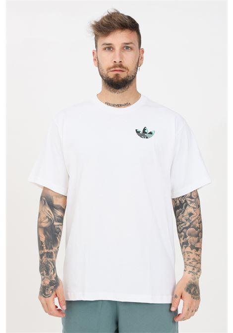 T-shirt uomo bianco adidas a manica corta con stampa sul retro ADIDAS | T-shirt | GN3906.