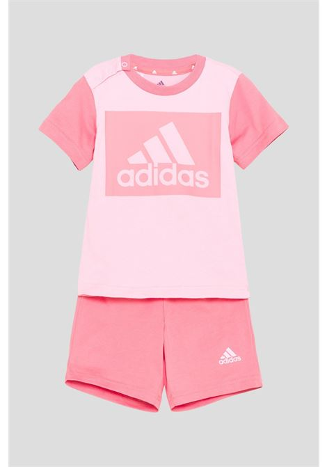 Completo bambina rosa adidas essentials tee and shorts ADIDAS | Completini | GN3927.