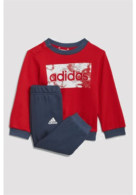 Red blue newborn jumpsuit with front logo adidas  ADIDAS | Suit | GN3950.