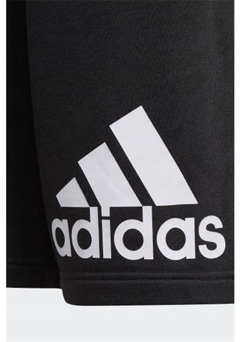 Black baby shorts with contrasting logo print adidas ADIDAS | Shorts | GN4018.