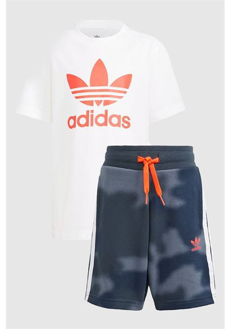 White blue baby outfit by adidas  ADIDAS | Kit | GN4123.
