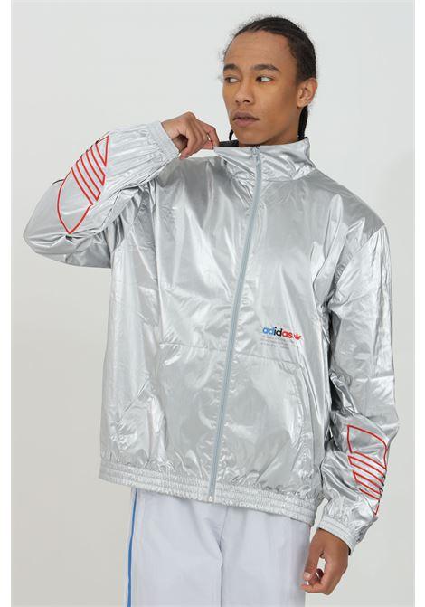 Felpa con zip con effetto spalmato space grey ADIDAS | Felpe | GN4208.