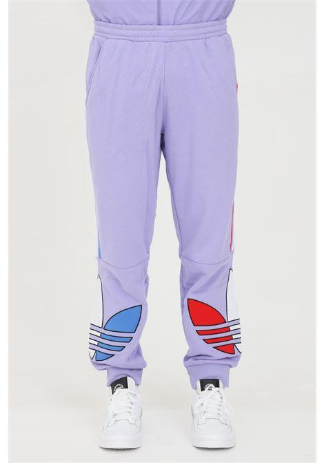 Pantalone felpa tricolore con vita elastica ADIDAS   Pantaloni   GN4453.