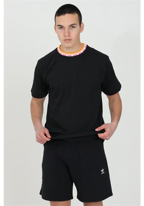 Black men's rib details t-shirt short sleeve adidas ADIDAS | T-shirt | GN5627.
