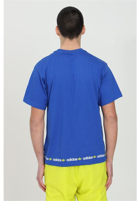 T-shirt linear logo repeat short uomo blu adidas a manica corta ADIDAS | T-shirt | GN7128.
