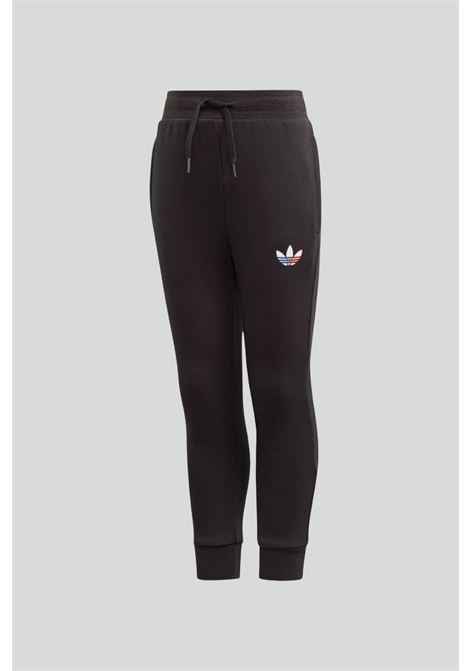 Black complete suit, hoodie with zip, trousers with elastic waistband and cuffs ADIDAS | Suit | GN7429.